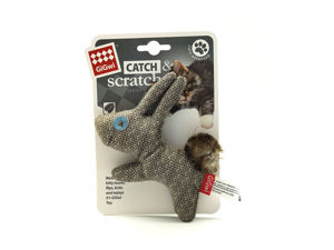Picture of GIGWI Catch & Scratch Rabbit with Catnips
