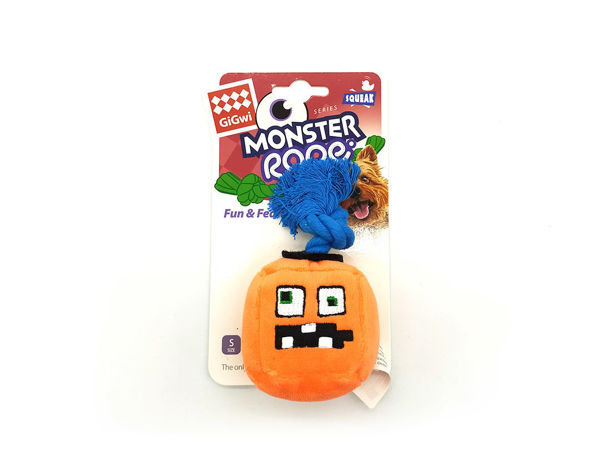 Picture of GIGWI Monster Rope Cube Plush (Orange)